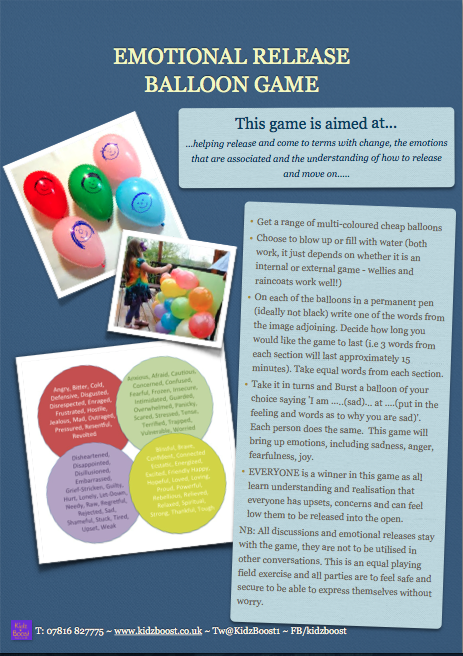 Child Activity Game. Emotional Release Game. Opening up