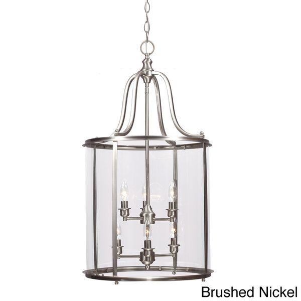 Gillmore 6-light Clear Glass Shade Hall/ Foyer Lantern Overstock.com