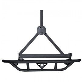 """Rugged Ridge Rear RRC Bumper With 2"""" Receiver Hitch and Tire Carrier - Black Textured - 11503.13"""