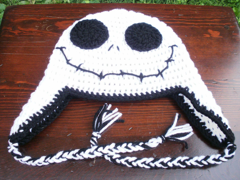 Jack Skellington Earflap Hat. $20.00, via Etsy.