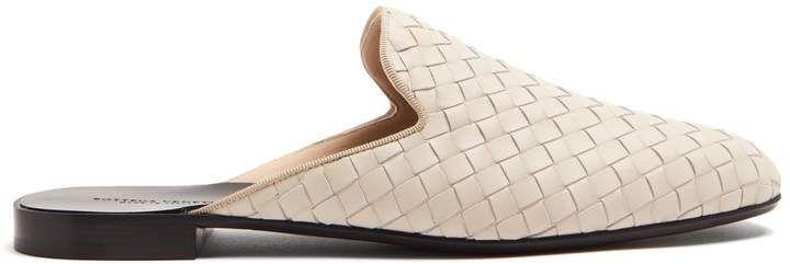 Fiandra intrecciato leather backless loafers Bottega Veneta eyNYQSVC