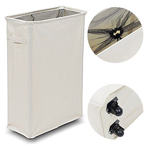 Wishpool Slim Slide Foldable Laundry Hamper Thicken Oxford Cloth