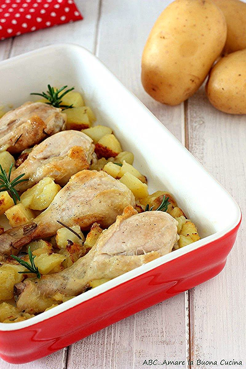 Photo of Baked chicken legs with potatoes – ABC … Love the Good Cu …