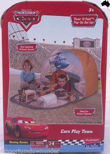Disney Pixar Cars Play Town Kids Pop Up Tent Cubby House Indoor Outdoor Play hut  & American Metalcraft BZZ95B Rectangular Wire Zorro Baskets Small ...