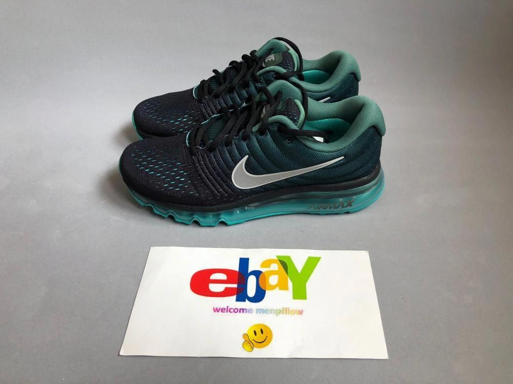 4644a03dc Nike Air Max 2017 Mens Running Shoes 849559-002 Black White Green Stone # Nike