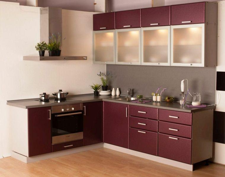 Petites cuisines intégrées et modernités en décoration et rangement | Petit meuble de cuisine ...