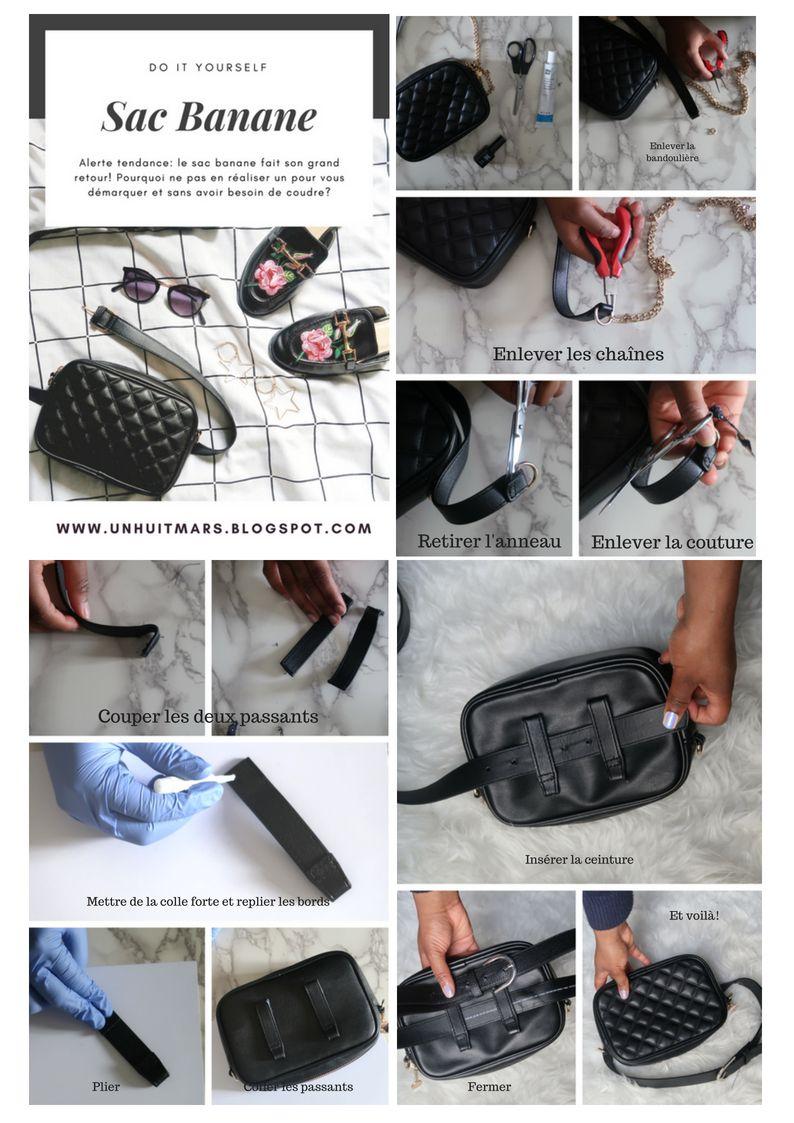 Tutoriel facile! Réaliser un sac banane sans couture