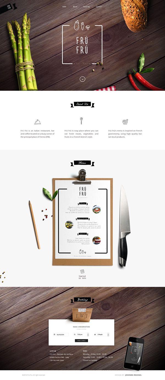 Fru Fru Website Webdesign Design Web Internet Site Webdesigner Designer Layout Template Theme Pikock Unique Web Design Web Layout Design Web Design