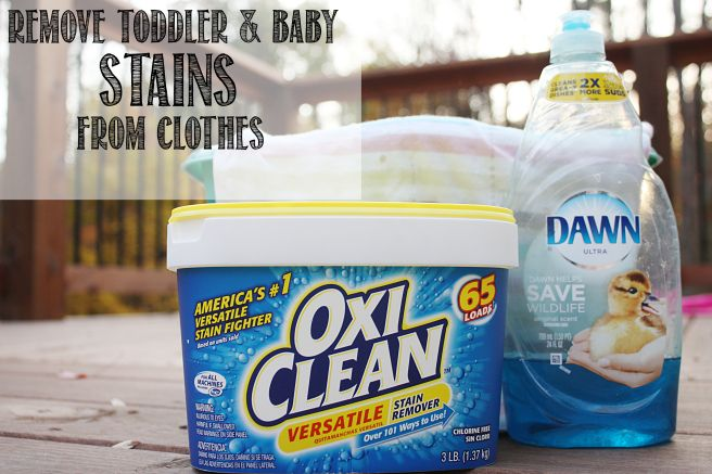 how to get out old stains from baby clothes