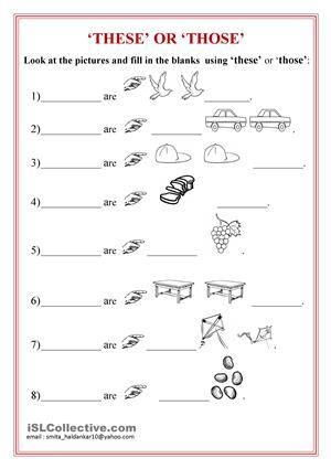 That And Those Worksheets Swaiyarat Pinterest Worksheets