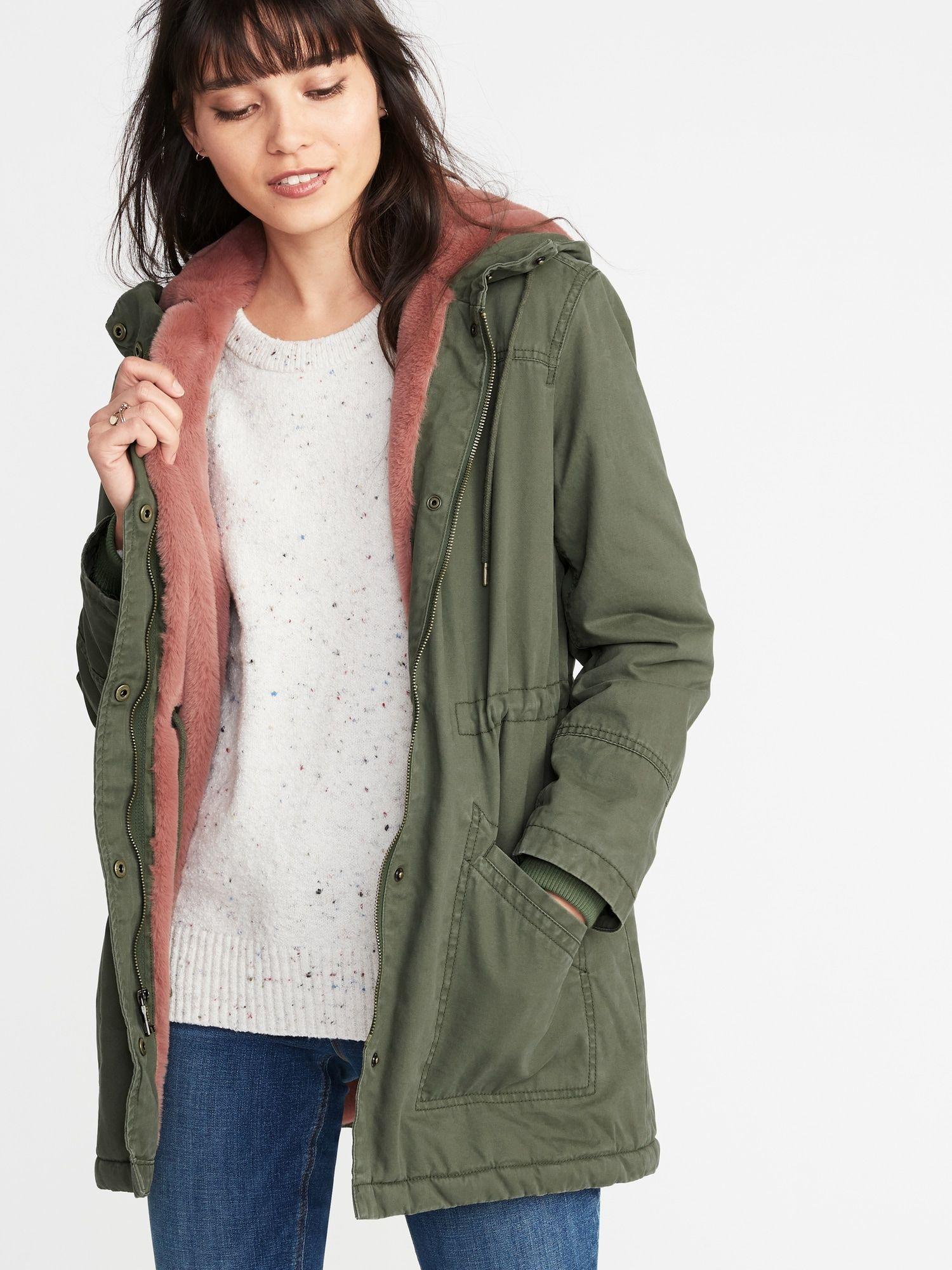 Hooded Utility Parka for Women   Old Navy   Parka coat, Jackets