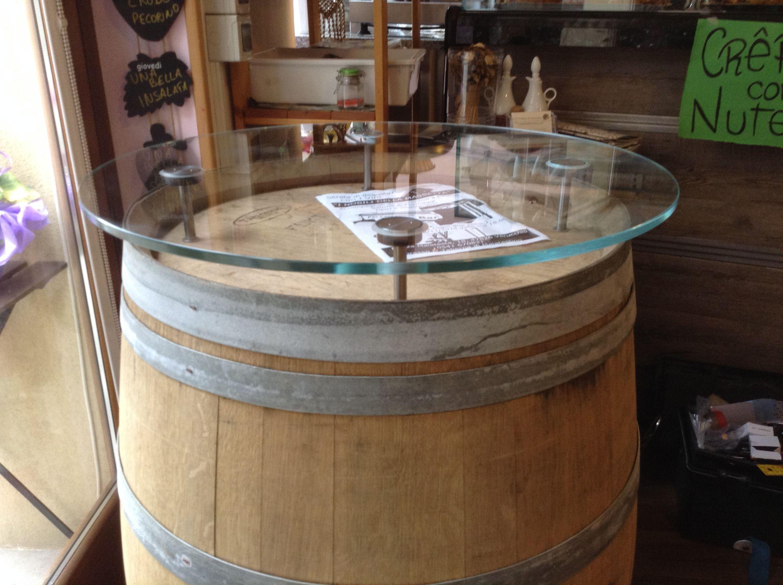 Botte tavolo ~ Tavolo in vetro su botte verucchio rimini vetri per tavoli