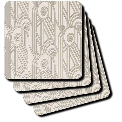cst_100572_1 Florene Art Deco and Nouveau - Art Deco Silver Swirl Design - Coasters - set of 4 Coasters - Soft 3dRose,http://www.amazon.com/dp/B00B7A97HY/ref=cm_sw_r_pi_dp_5scxtb0F4DFRAQJW