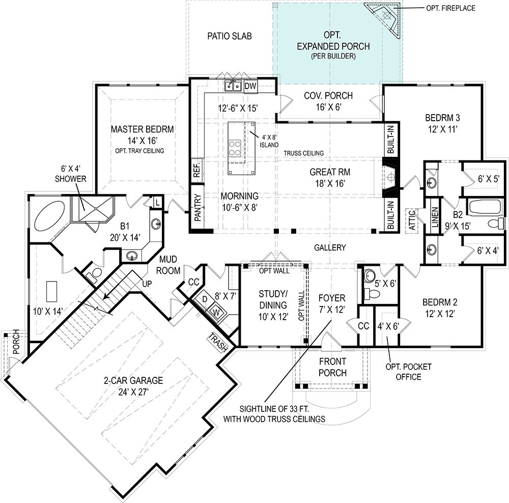 This Efficient And Low-cost Craftsman Style House Plan