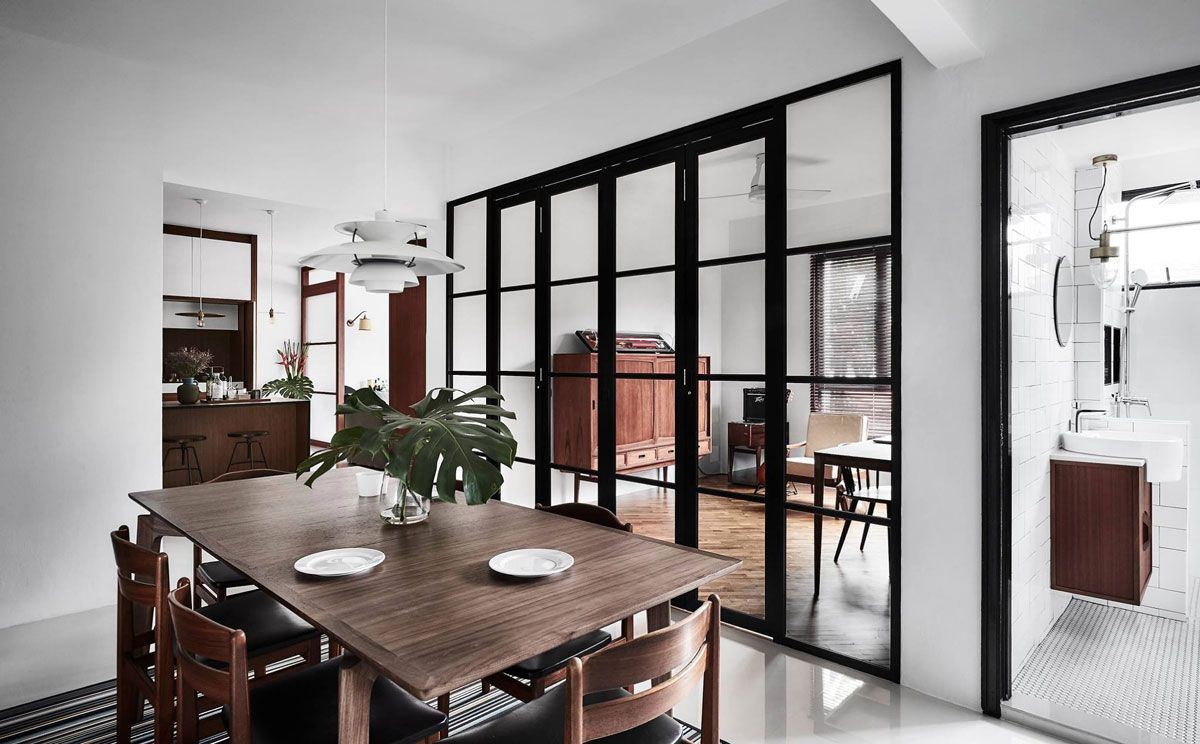 12 Seriously Stylish Singapore Homes With A White Black And Wood