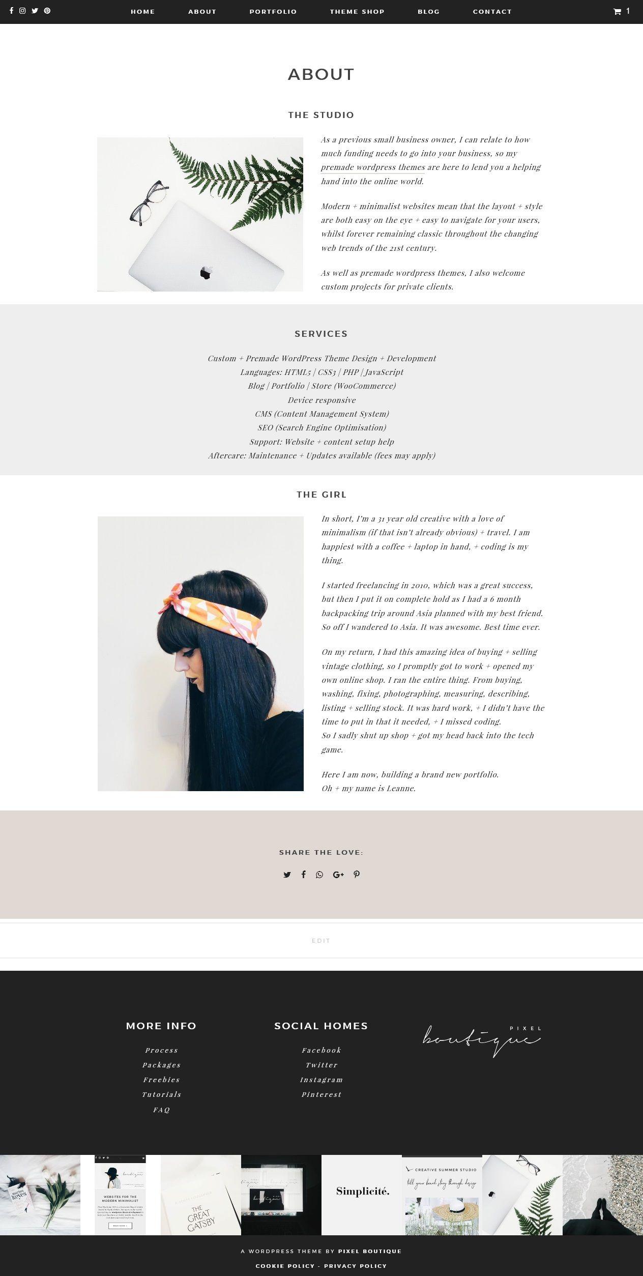 www.pixelboutique.co.uk freelance website design