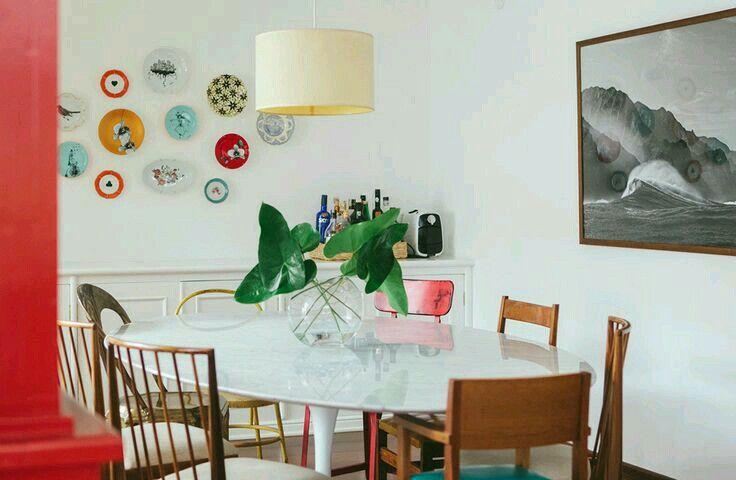 Pratos como decoração