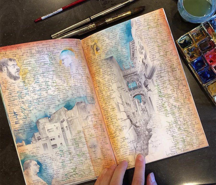 Dina Brodskys Skizzenbuch Reise Skizzenbuch Skizzenbuch