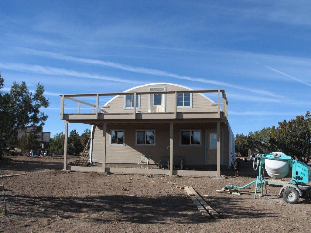 Two floor steel building home with deck Two floor