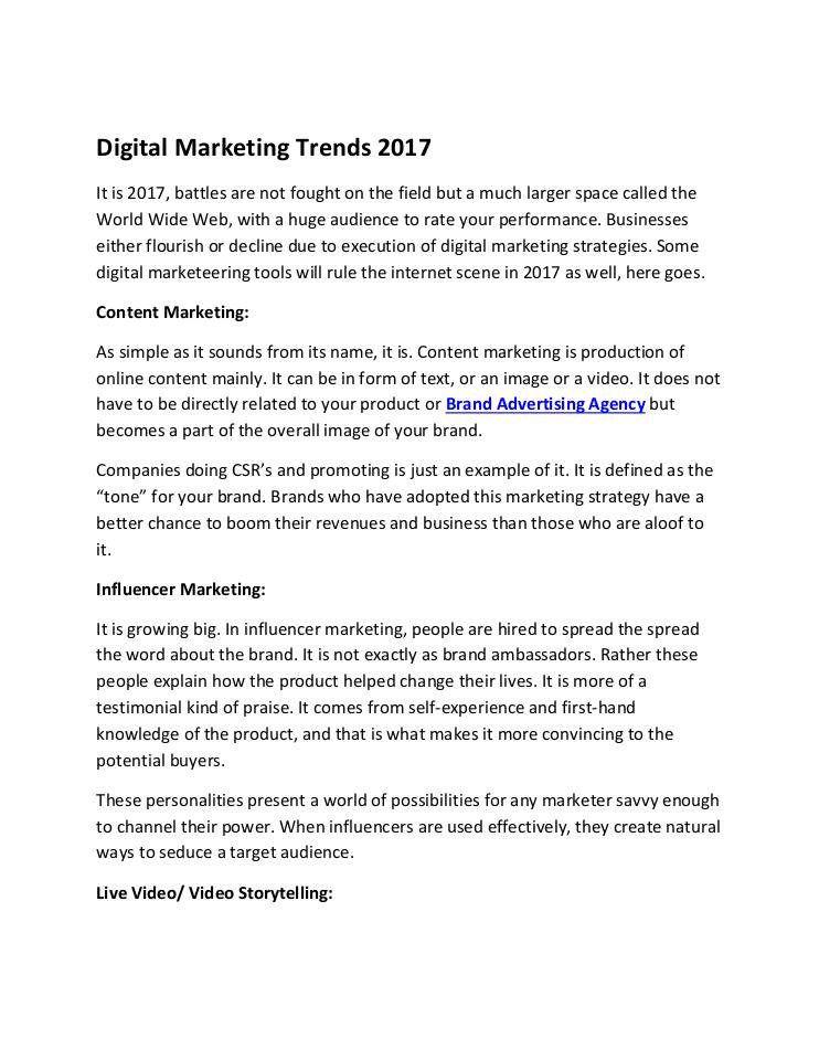 Digital Marketing Trends  Established Since  Time N Space