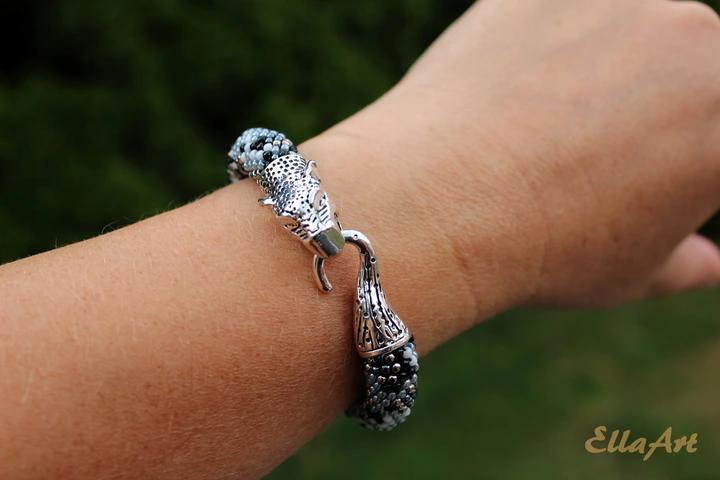 Bransoletka Z Koralikow Pantera Bizuteria Autorska 9630629394 Allegro Pl Bracelets Jewelry Rope Bracelet