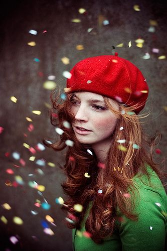 that red hat and confetti