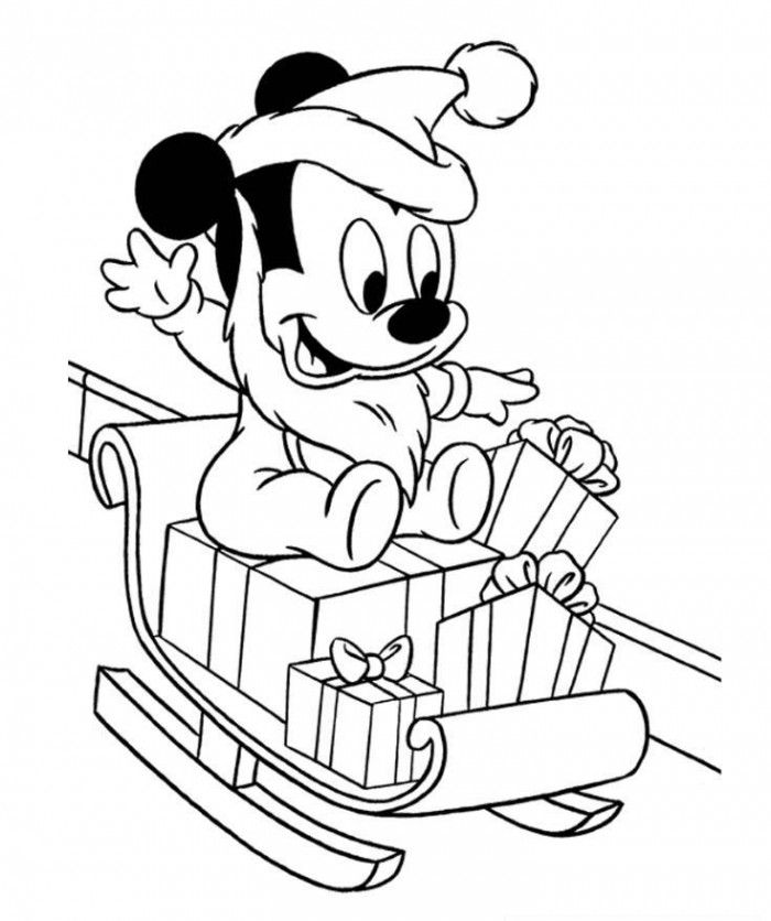 Perfect Baby Mickey Mouse Christmas Coloring Pages