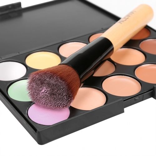 15 Colors Makeup Face Cream Concealer Palette + Powder Brush. Starting at $5