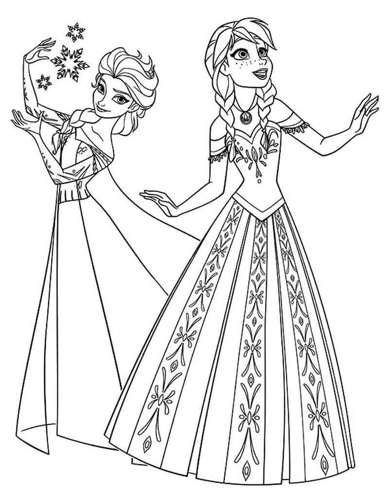 Printable Frozen Elsa And Anna Coloring Page Disney Princess Coloring Pages Elsa Coloring Pages Princess Coloring Pages