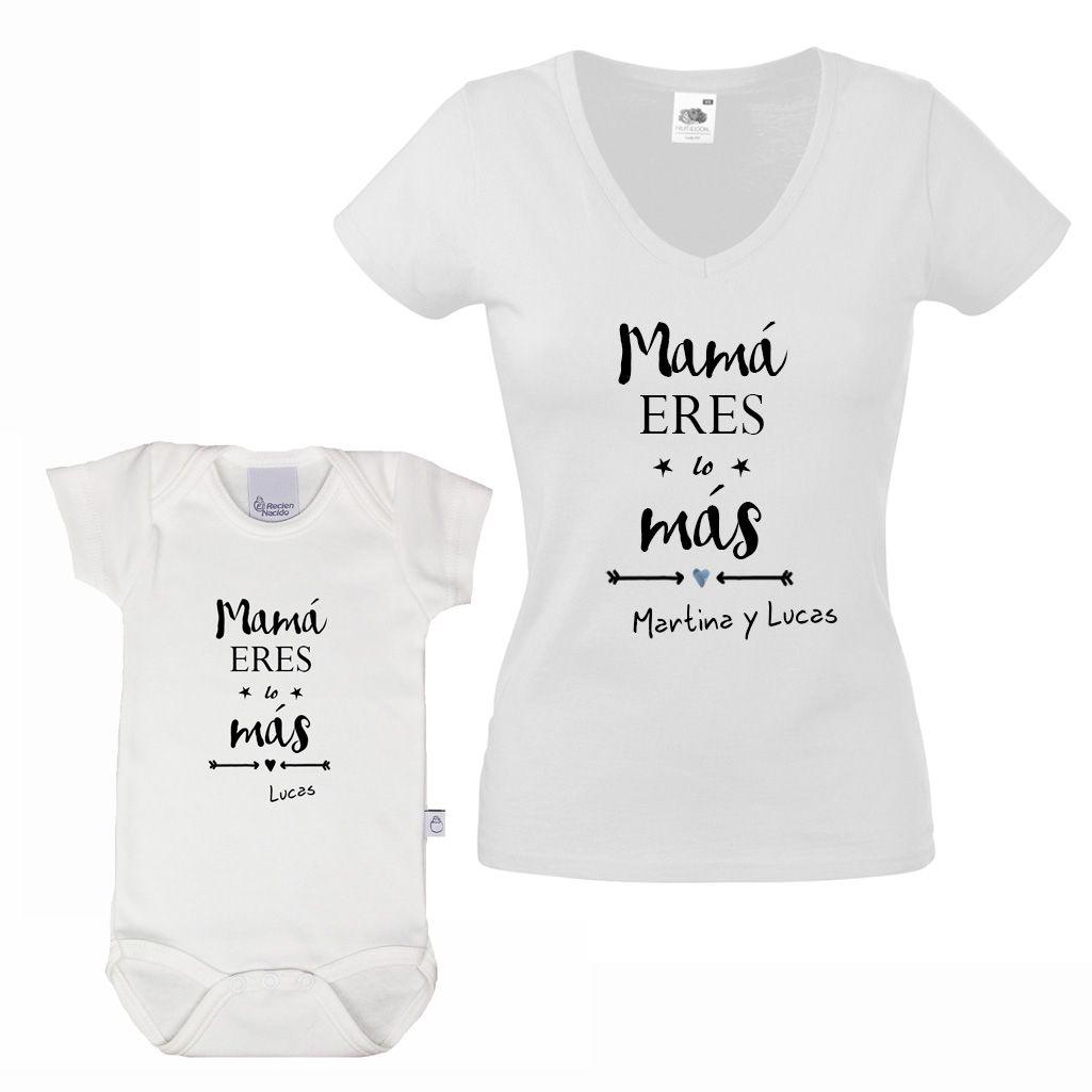 8a321cfe40b Set de camiseta y body para madres y bebés.