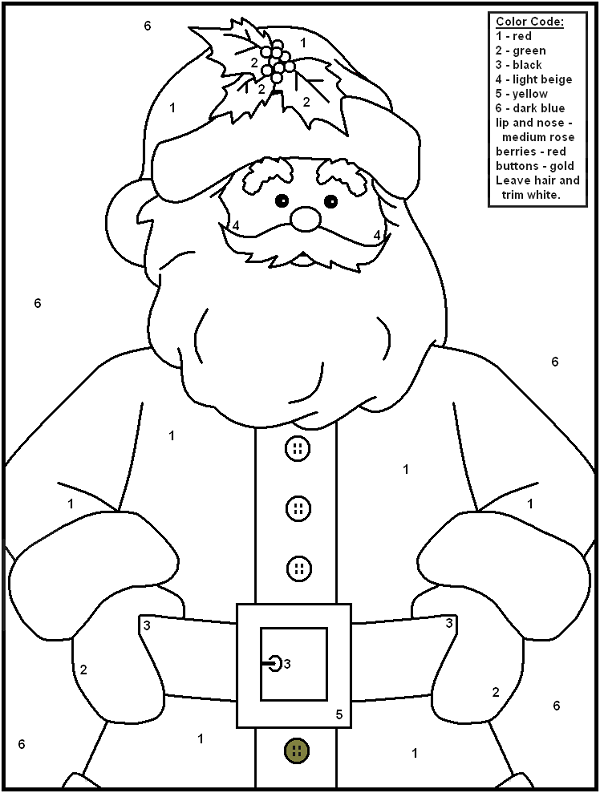 christmas coloring pages numbers | coloring kids | Pinterest ...