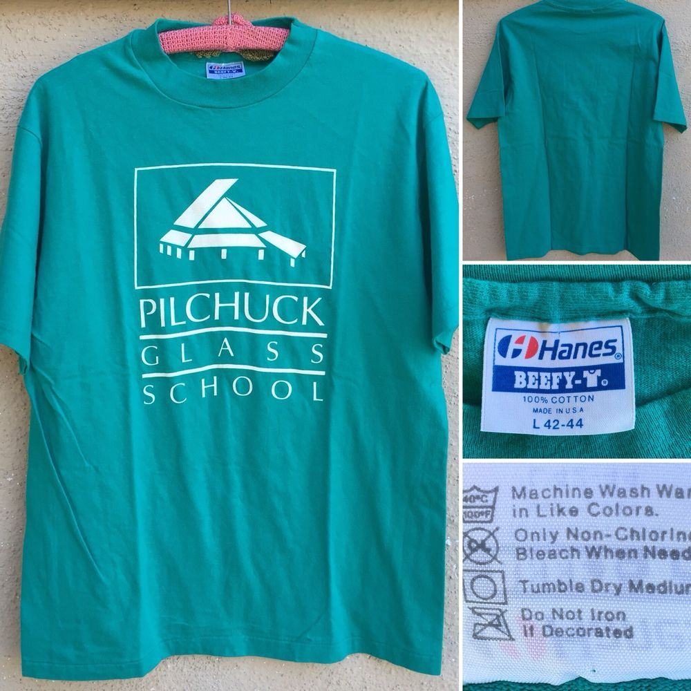 Vintage Pilchuck Glass School T Shirt Made In Usa L 42 44 Ebay Shirts Vintage Tshirts School Tshirts