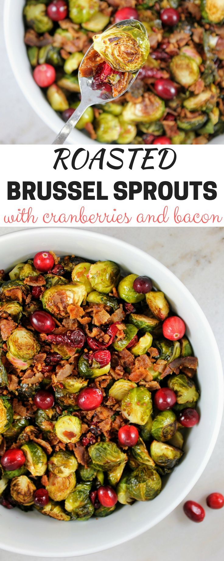 roasted brussel sprouts with cranberries bacon perfect christmas side dish food pinterest christmas side dishes christmas side and sprouts - Christmas Side Dishes Pinterest