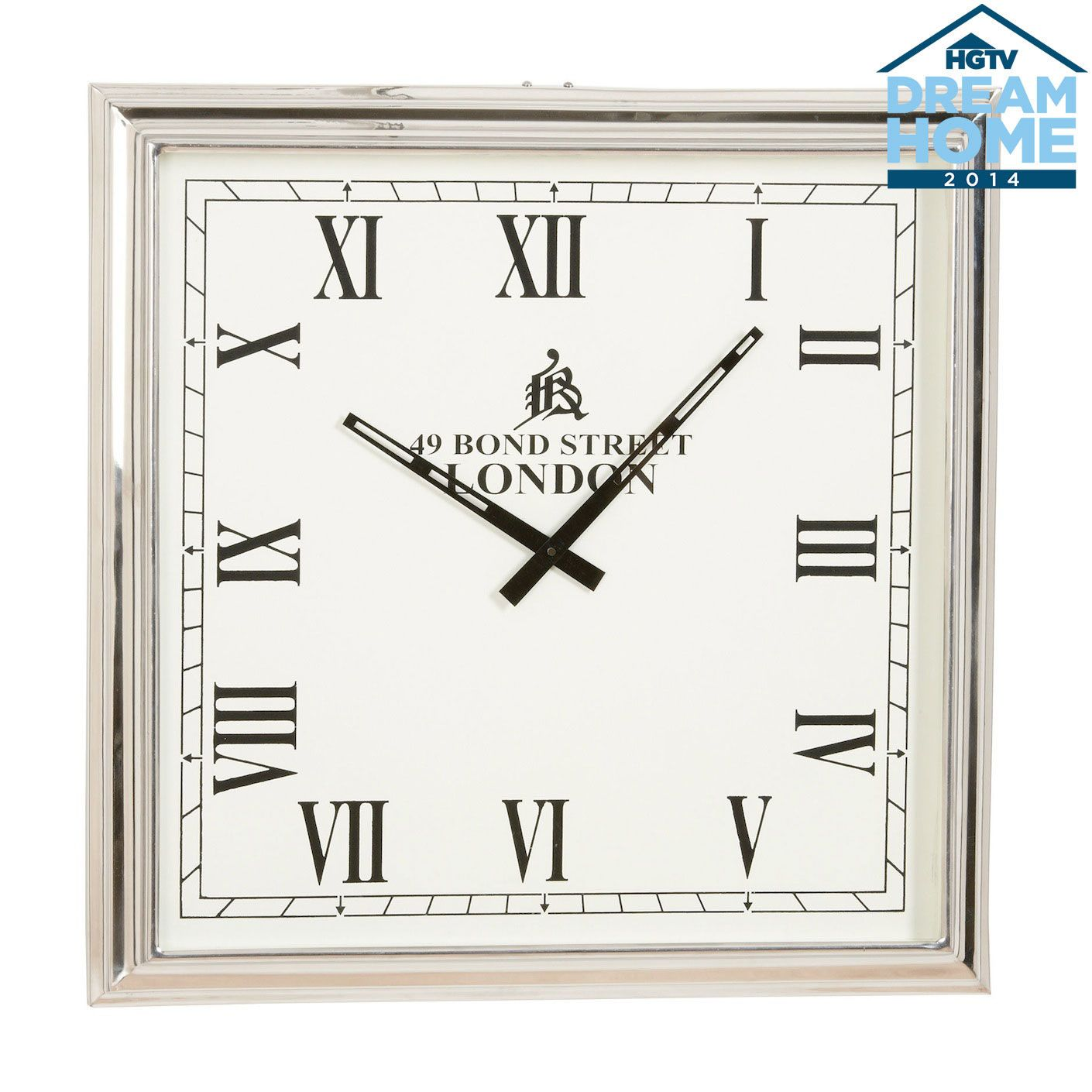 Nickel Square Wall Clock Ethan Allen Us Square Wall Clock Wall Clock Traditional Wall Clocks