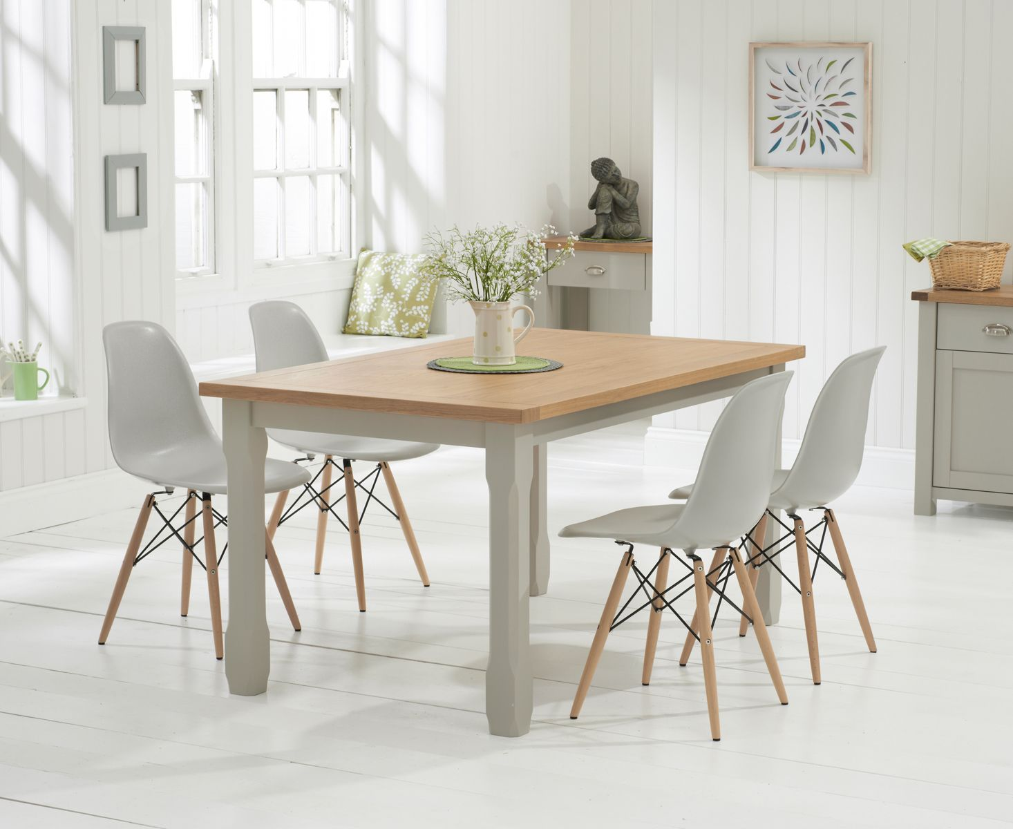 John Lewis Partners Henley By Kettler Round 6 Seater Garden Dining Table Dia 150cm Grey Best Buy Furniture Grey Dining Tables Dining Table Oak Dining Furniture