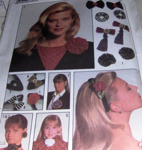 This is a pattern to make accessories such as hair bows, chokers, flower pins…