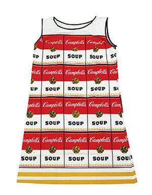 Warhol, Andy (1928-1987), 'Souper Dress', Screenprint on cotton and cellulose dress, c.1966/67.