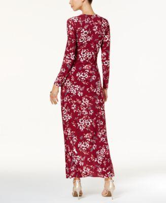 Long Sleeve High Low Maxi Dress