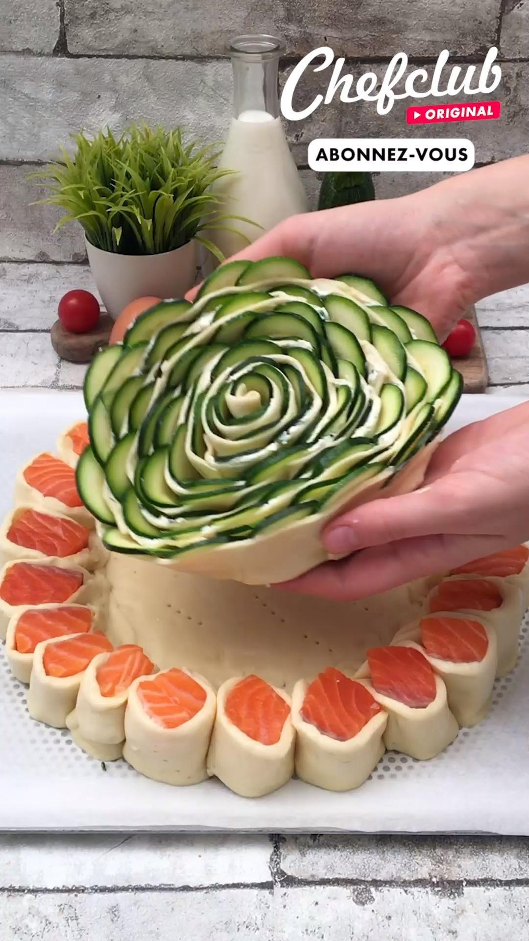 Photo of Zucchini salmon pie