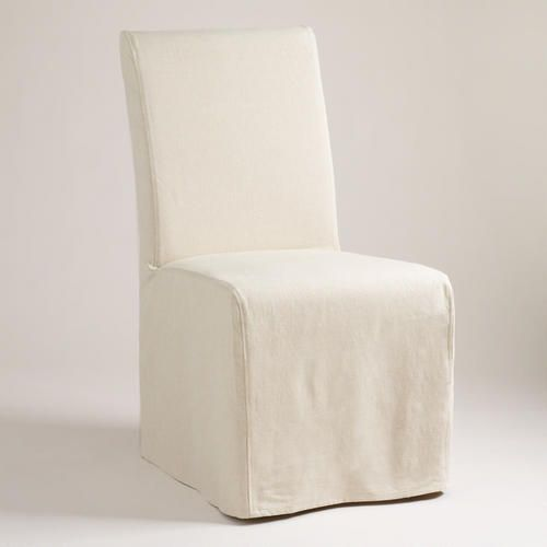 One Of My Favorite Discoveries At WorldMarket Linen Long Anna Chair Slipcover