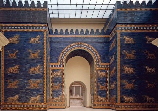 Part Of The Walls Of Babylon The Ishtar Gate Eight Gate Into Babylon Found Itself A Place On The Orig Pergamon Museum Pergamon Museum Berlin Ancient Babylon