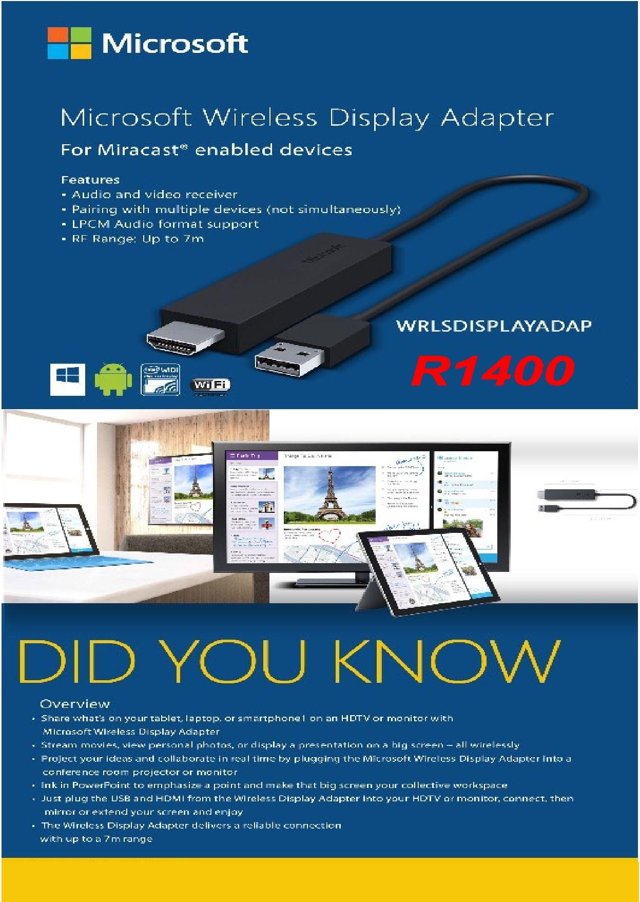 Microsoft wireless display adapter wireless adapter