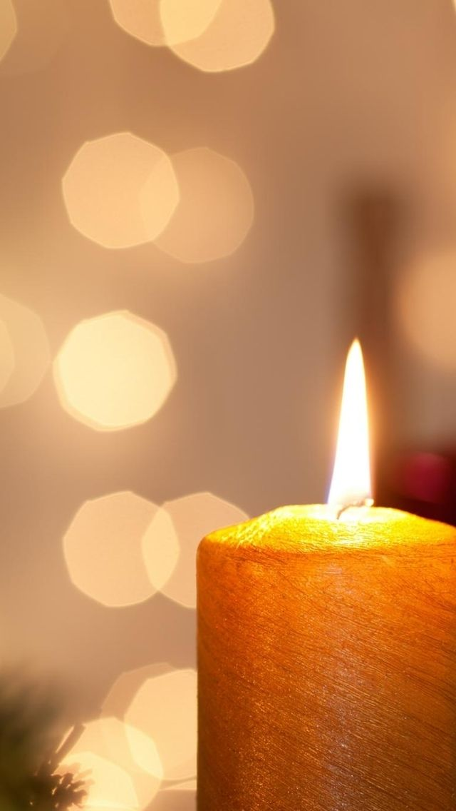 Orange Candle In 2019 Hd Wallpaper Iphone Christmas