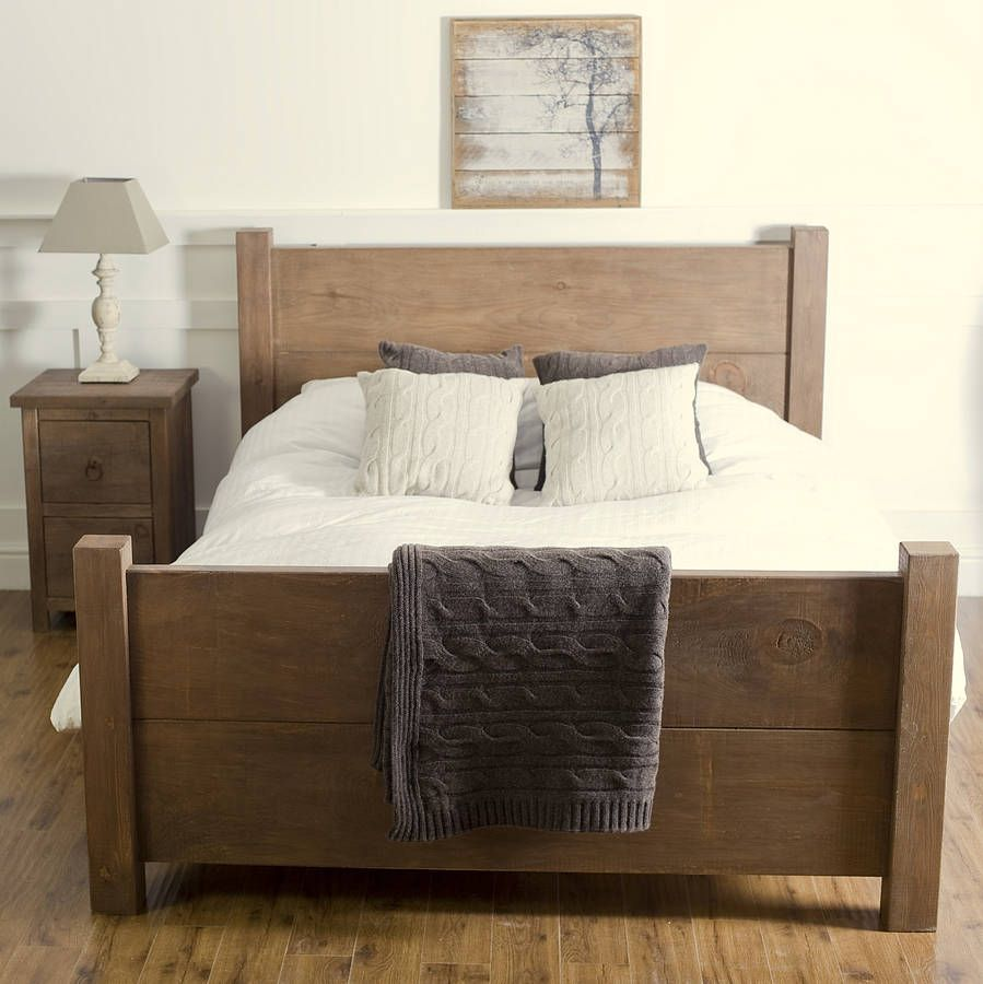 Chunky wood bed by the orchard furniture notonthehighstreet