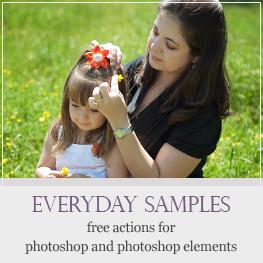 Free actions for Photoshop and Photoshop Elements via @amandapadgett