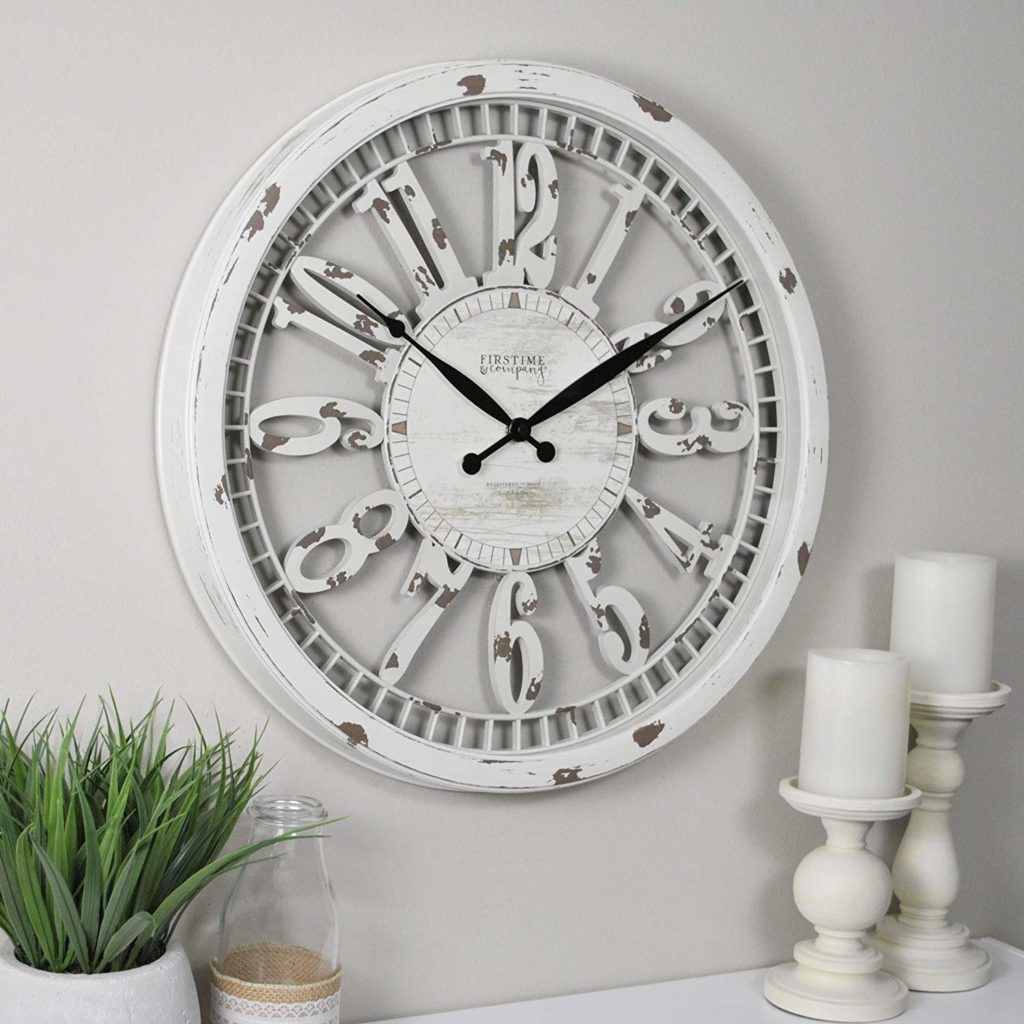 12 Vintage Industrial Decor Ideas Cream Wall Clocks Wall Clock Farmhouse Wall Clocks