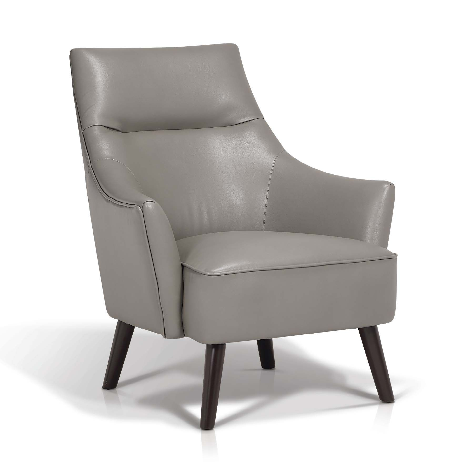 Grey Leather Club Chair Stuhl Stoff Stuhle Sessel