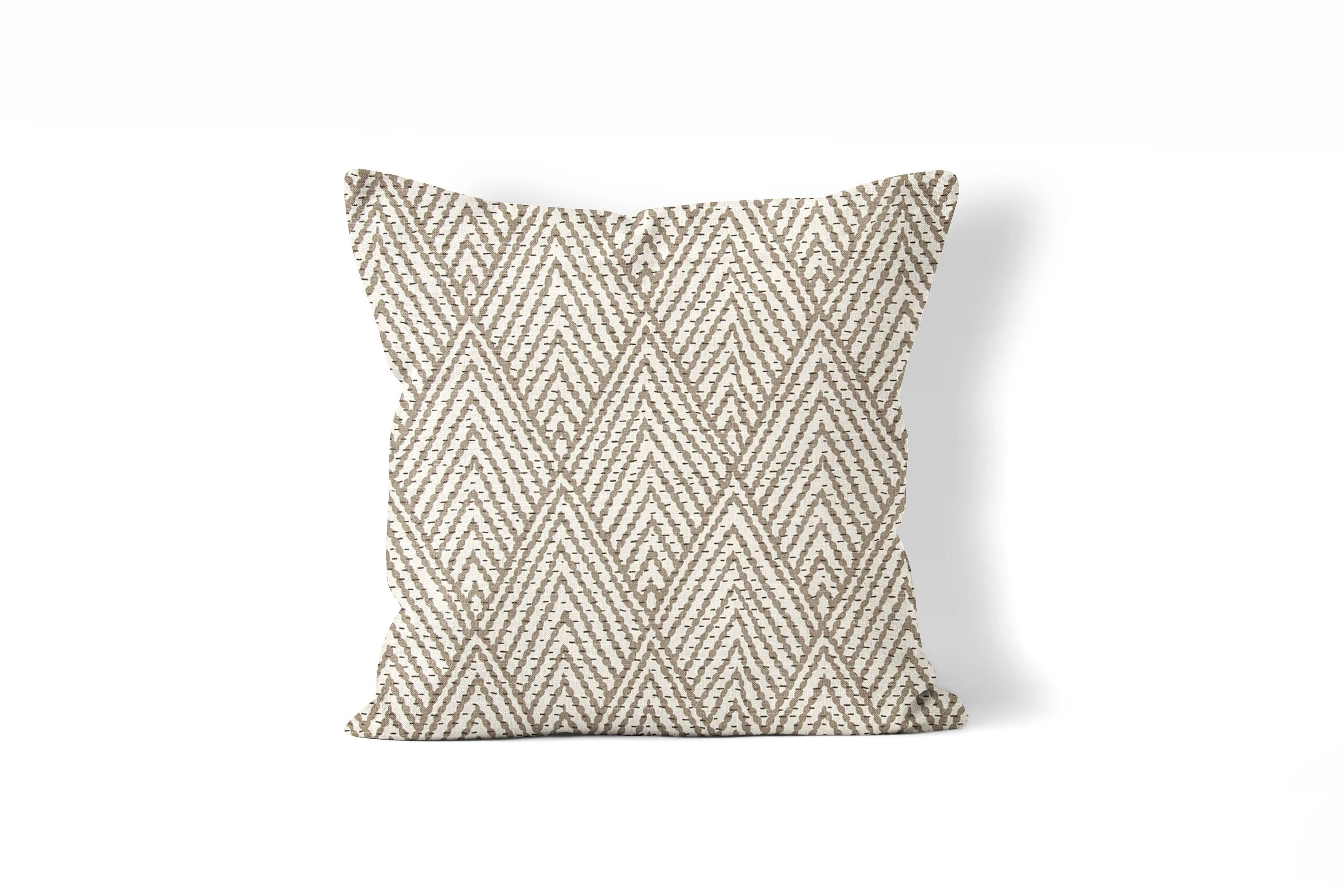 """Now selling: tan pillow cover,art deco print, throw pillow 18""""x18"""", 20""""x20"""", 22x22 or 24""""x24"""" tan and cream, bei...  https://www.etsy.com/listing/532921021/tan-pillow-coverart-deco-print-throw?utm_campaign=crowdfire&utm_content=crowdfire&utm_medium=social&utm_source=pinterest"""