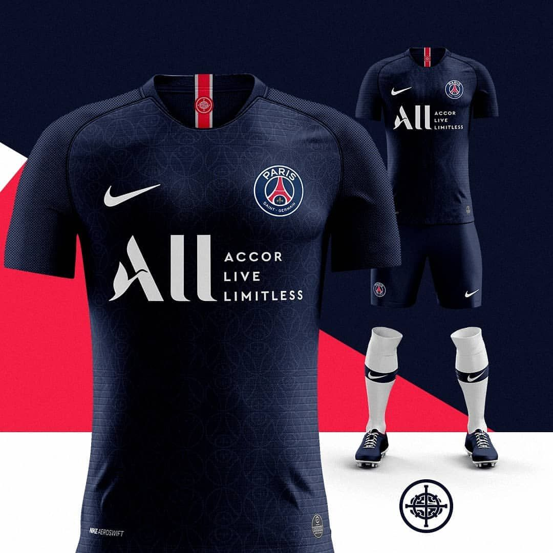 low priced big sale great prices UPDATED: Nike 2019/20 Home Kit for PSG with the Accor Live ...