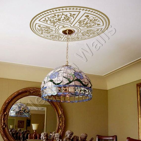 ceiling medallion vinyl ceiling decal shabby chic